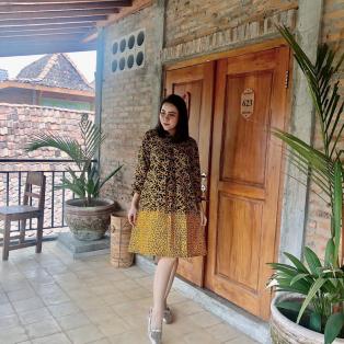 Batik Sakura Bahan Paris All Size