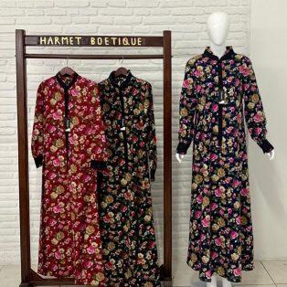 Dress Panjang Motif Bunga