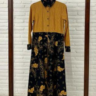 Dress Kuning Garis